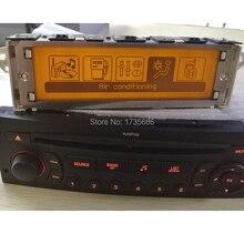 12-контактный экран Поддержка USB Двухзонный воздуха Bluetooth Дисплей желтый monitorfor peugeot 307 407 408 экран citroen C4 C5
