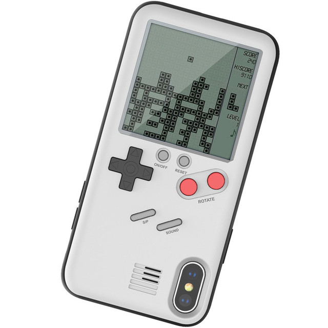 Gameboy etui na telefon komórkowy etui na telefon z wbudowanym Tank War gra tetris etui na telefon