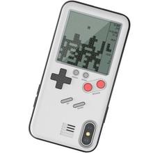 Gameboy هواتف محمولة حالة للعب حالة مع المدمج في خزان الحرب تتريس لعبة أغلفة الهواتف