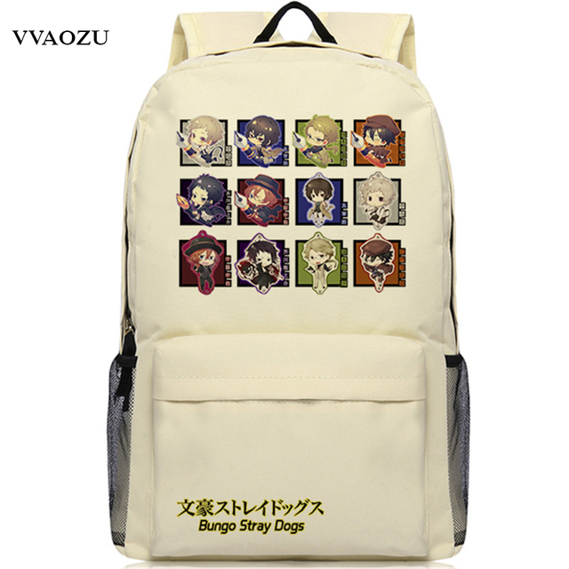 Anime Bungou Stray Dogs Backpack College Student School Rucksack Book Bags For Teenagers Casual Travel Daypack