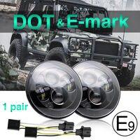 CO LIGHT 7 Headlight 50W 30W 12V 24V High Low Auto LED Driving Light H4 DRL