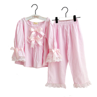 2019 Spring\Autumn Children's Sets Girls Pajamas Set Long Sleeve 100% Cotton Princess Suit Baby Clothing for 3y 10y