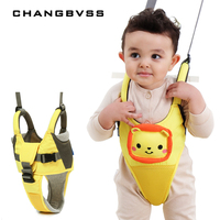 Cartoon Baby Walker Children Leash Backpack Baby Toddler Harness Backpack Safety Baby Belt With Cute Sound, mochila infantil