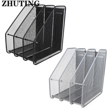 Column Metal Mesh Document Rack File Holder Letter Magazine Newspaper Tray for Home Office Desk Organizer Supplies Document Tray 3 layers moving document file tray holders desk set book holder organizer a4 office school supplies desk accessories