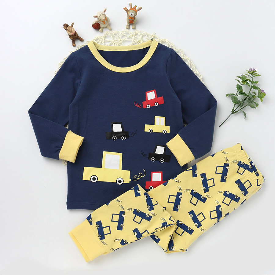New Casual Pajamas Sets For Girls And boys Character Sleepwear Kids Trousers Children Long Sleeve T shirts Cotton Clothing Suits 2 7 years children boys girls christmas pajamas sets children clothing cotton kids long sleeve santa pyjamas for baby sleepwear