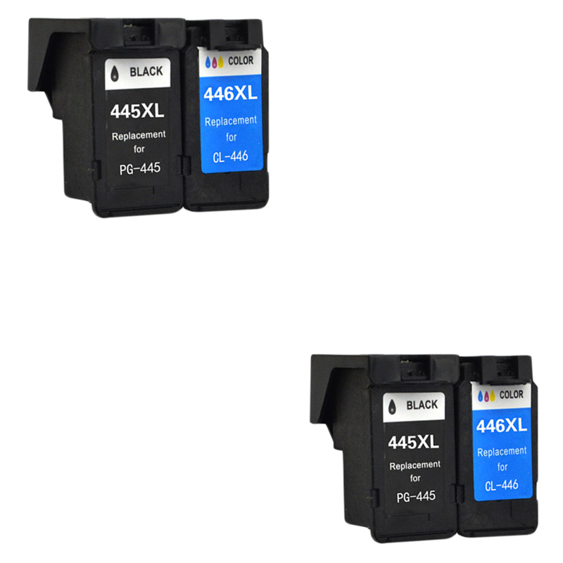 4pcs LuoCai Compatible Ink Cartridges for Canon pg445 cl446 PIXMA MX494 MG 2440 2540 2940 MX494 IP2840 printers PG 445 CL 446 XL