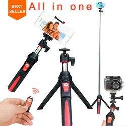 Ulanzi BENRO MK10 Selfie عصا حامل ثلاثي القوائم 4 في 1 حامل أحادي القوائم قابل للتمديد بلوتوث الهاتف عن بعد جبل آيفون X 8 أندرويد Gopro