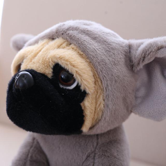 Pug plush toy cute animal soft stuffed doll dog cosplay dinosaur elephant kids toys birthday christmas gift for children
