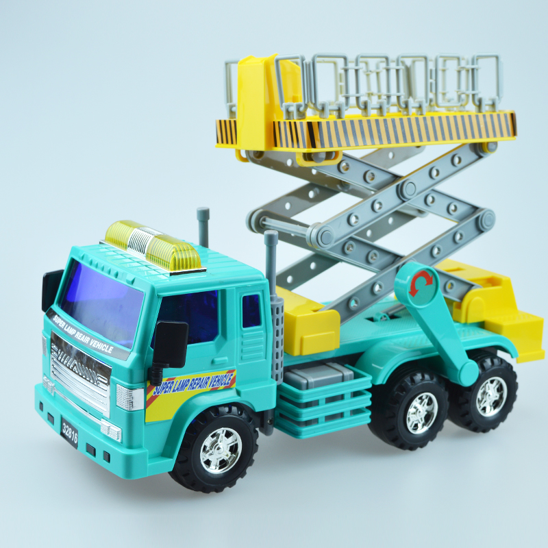 1 pcs big size street maintenance engineering vehicles construction truck real model toys car for kids