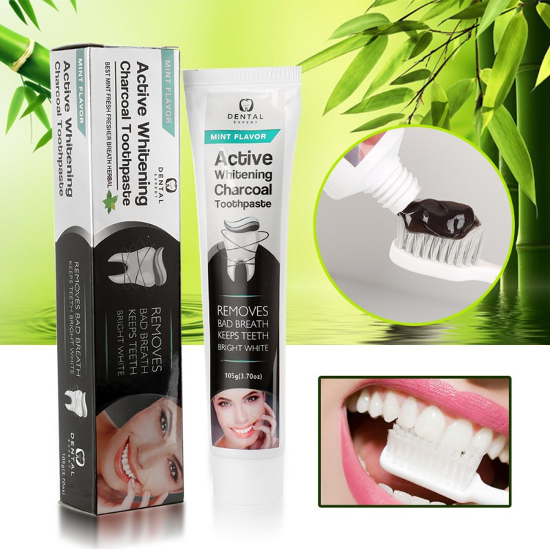 New Hot Sale 1pcs Bamboo Toothpaste Black Toothpaste Whitening Teeth Activated Charcoal All-purpose Teeth Toothpaste Makeup 105g 3