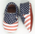Genuine leather USA flag red sole baby moccasins baby boys girls shoes newborn handmade tassel toddler shoes wholesale