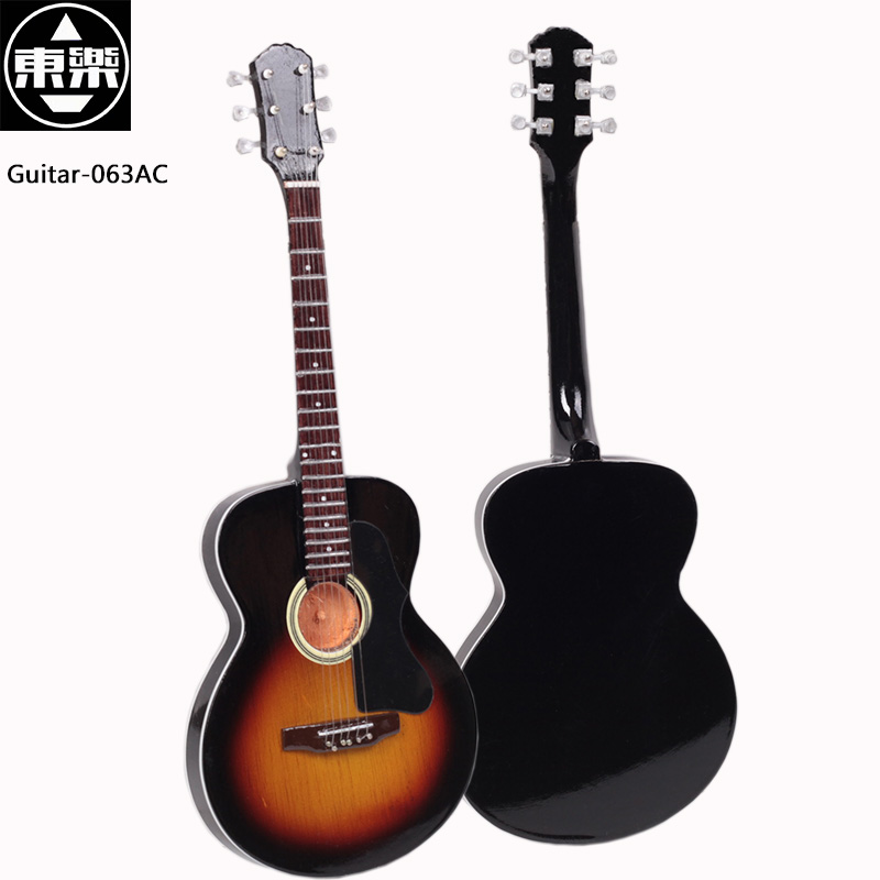 Wooden Handcrafted Miniature Guitar Model guitar-063AC Guitar Display with Case and Stand (Not Actual Guitar! for Display Only!) wooden handcrafted miniature guitar model guitar 087 guitar display with case and stand not actual guitar for display only
