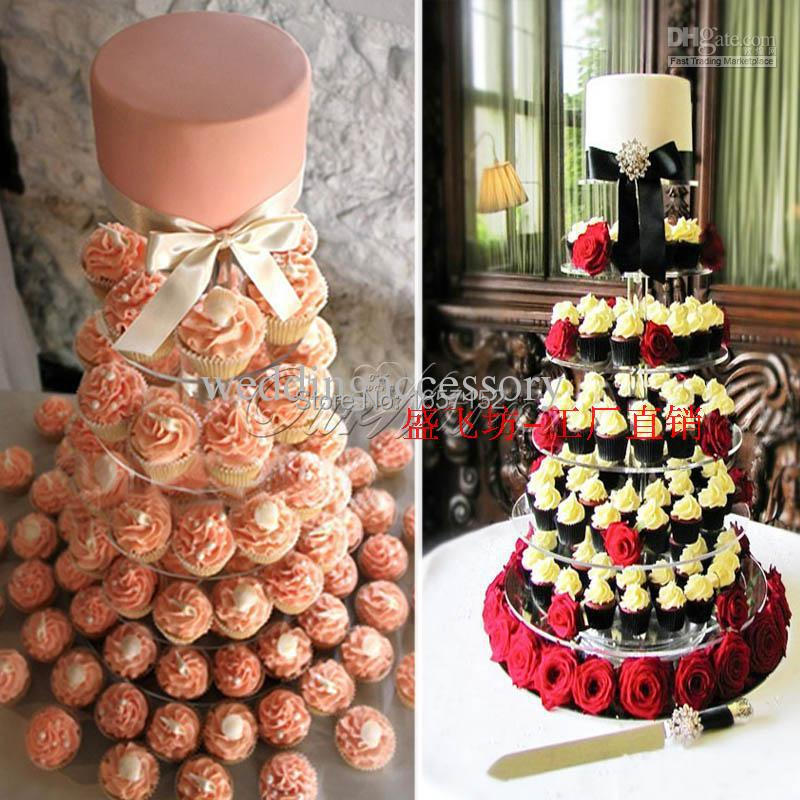 7 Tier Acrylic Round Cupcake Stand Birthday Party Display wedding ...