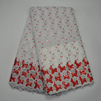 African Cord Lace Fabric Newest High Quality Best Design Sequins Nigerian Swiss Voile Net Lace African