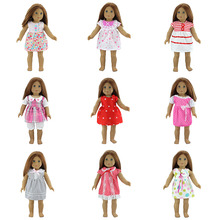 10Style Choose dress Fit for American Girl Doll Clothes 18-inch Doll , Christmas Girl Gift(only sell clothes) princess dress american doll clothes and accessories fits 18 american girl dolls for christmas gift