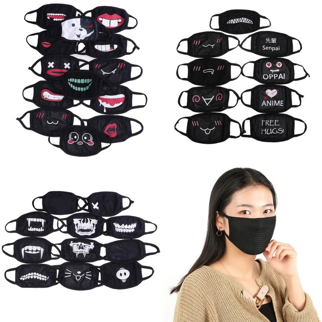 22Style Unisex Kpop Kawaii Anti Dust Mask Cotton Mouth Mask Cute Anime Cartoon Mouth Muffle Face Mask Emoticon Masque Masks