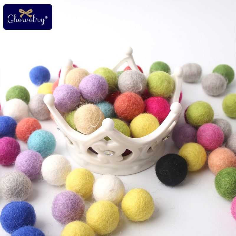 10pc 20mm Colorful Round Wool Felt Balls Pompom Balls For Diy Girls Room Party Wedding Decoration Fetl Balls Products Gift Toys