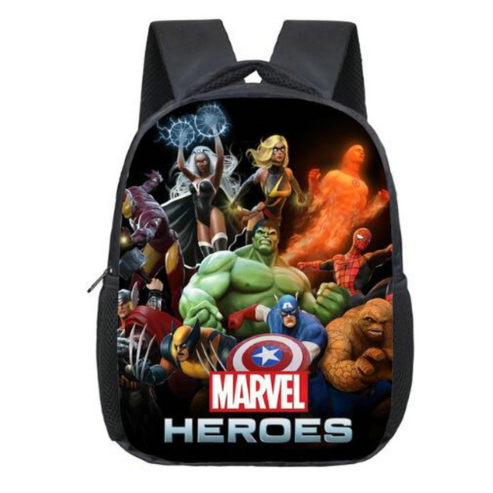 12 Inch Avengers Iron Man Hulk Captain America Kindergarten Backpack Kids School Bags For Boys Daily Backpacks Children Bookbag