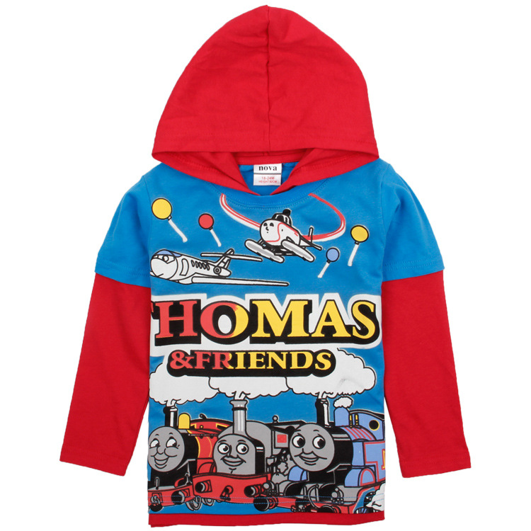 thomas and friends blue red clothes boys hoodies children wear sweatshirts jacket new year sport suits baby kids cotton clothing