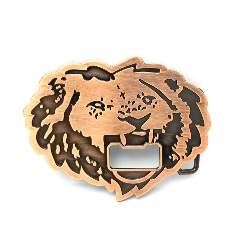 The Cowboys Of The West Belt Buckle The Tiger Head With A Bottle Opener Multi-functional Belt Buckle For 4.0