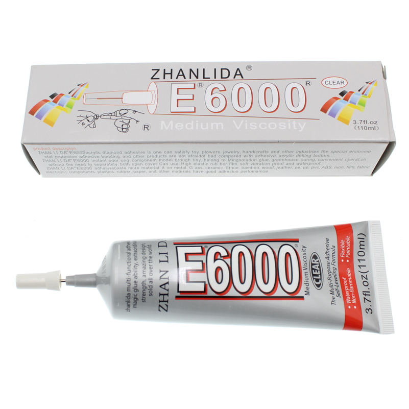 Transparent 100ML E6000 Glue Liquid Touch Screen Adhesive Metal Plastic Fabric Textile Wood Super Strong Bond B7000 Epoxy Resin