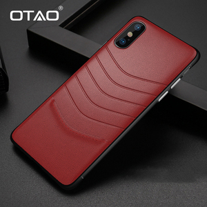 Image 1 - OTAO Leather Shockproof Case For iPhone 8 7 Plus 6 6s Bumper Back Cover For iPhone X XS MAX XR Solid Color Cases Soft Edge Coque