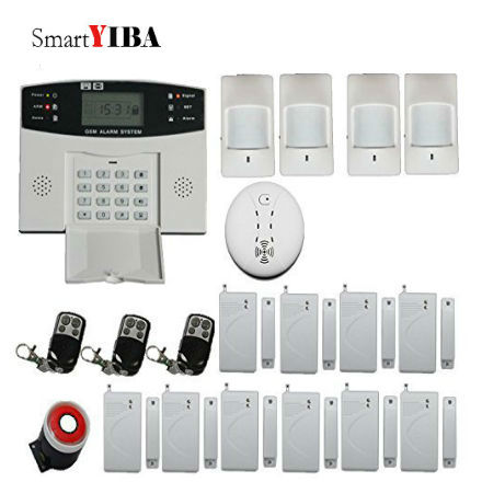 SmartYIBA Wireless GSM Security Alarm System For Home&Office Safty+Remote Controller+Smoke/Fire Alarm Siren Motion Alarm System wireless smoke fire detector smoke alarm for touch keypad panel wifi gsm home security system without battery