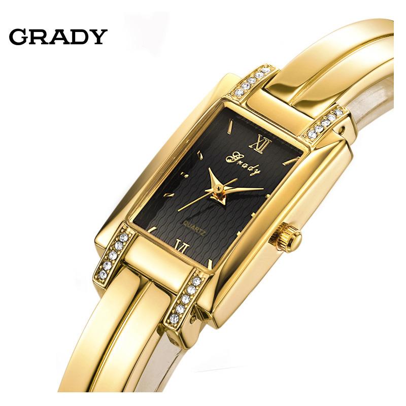 Prix pour Grady nouvelle arrivée livraison gratuite femmes mode & casual montre saphir montre en or femmes montre à quartz