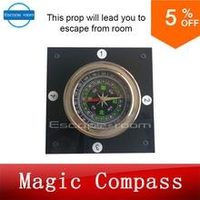 Волшебный компас авантюрист Escape игровая комната устройства Опора fortakagism получить скрытые ключи через компас выполнить из реальной жизни комнаты escape