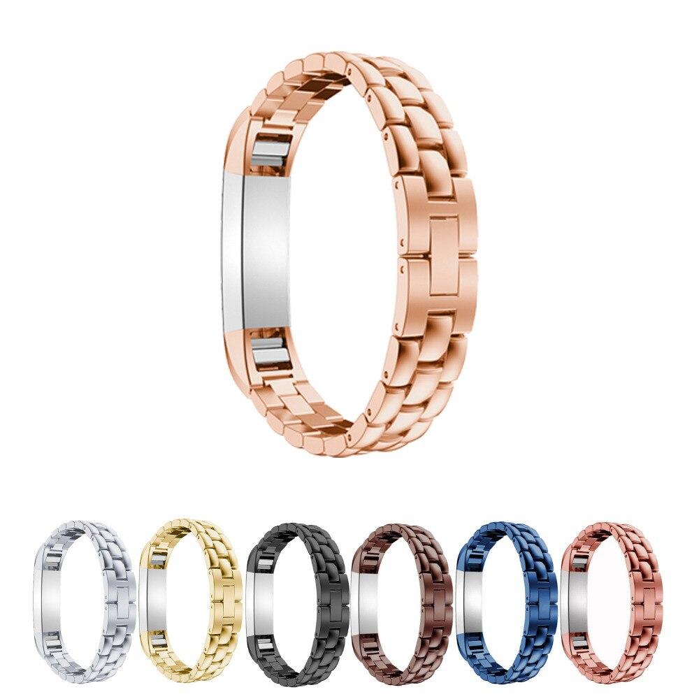Lnop Acero inoxidable arco banda de reloj para Fitbit alta/hr correa de reloj de pulsera Banda del wirst para Fitbit alta /alta HR 8 colores