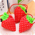New popular Random Color Cute Strawberry Shopping Bags Foldable Tote Storage Handbag Nylon  50