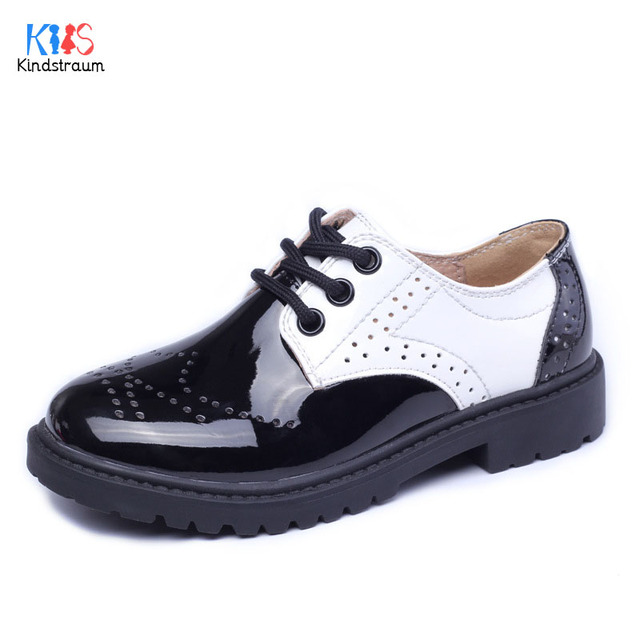 2017 Autumn Children Genuine Leather Shoes Brand Western Style Shoelace Shoes for Boys & Girls Brand Causal Shoes for Kids,RJ122