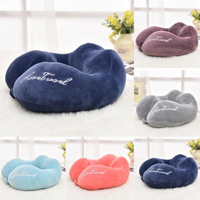 Новые u-образные подушки для защиты шеи из пены памяти мягкие медленный отскок космическая Подушка твердый шейный затылочный медицинский Подушка для беременных