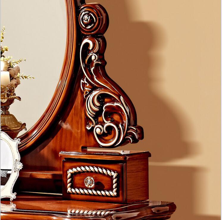 European mirror table antique bedroom dresser French furniture ...