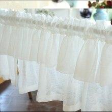 JUYANG. Короткие мягкие белые шторы. Шкаф для штор. Декоративная Тюлевая полуштора. Кофе занавес