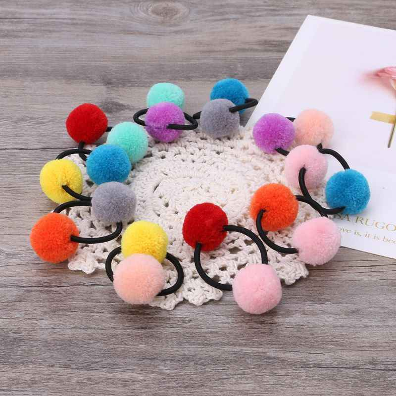 Hair Band Fur Balls Cute Ponytail Baby Headwear Fashion Headwear Headband Hair Accessories Rope Elastic Lovely Pom Pom