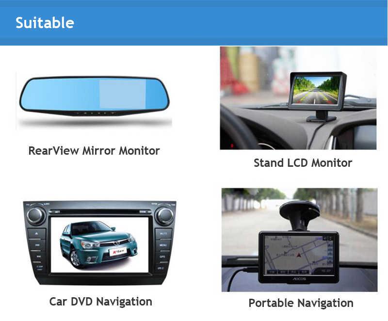 Silverstrongユニバーサル車のバックカメラccdリア商工ドリルタイプ用駐車場リアビューカメラフィットすべての車防水
