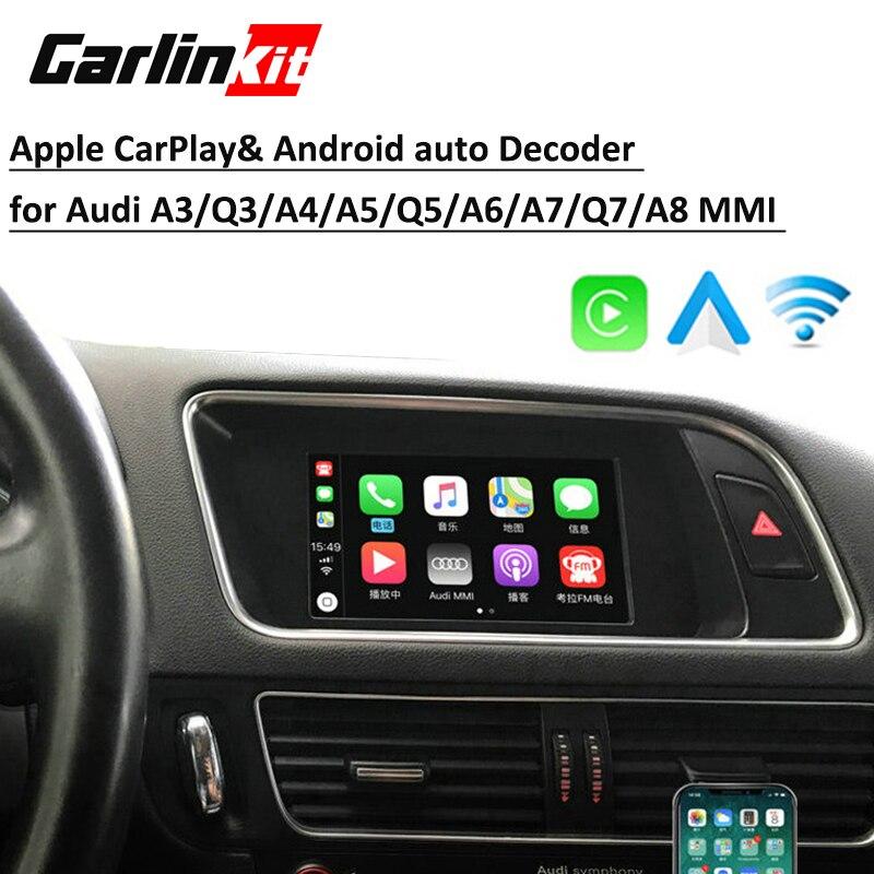 Aftermarket Solução Sem Fio Da Apple Carplay & auto Android para Audi Q5 A4 A5 A6 A7 Q7 A3 Q3 B9 A8MMI com Câmera Reversa
