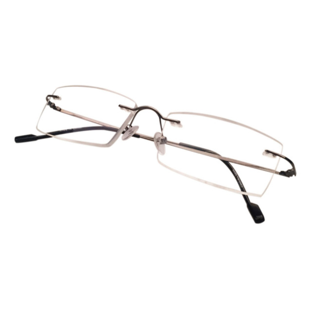 ca63bcd8ae Eyeglasses Frameless Rimless Reading glasses rectangle titanium Alloy  Lightweight Presbyopic glasses for Men Women Eyewear