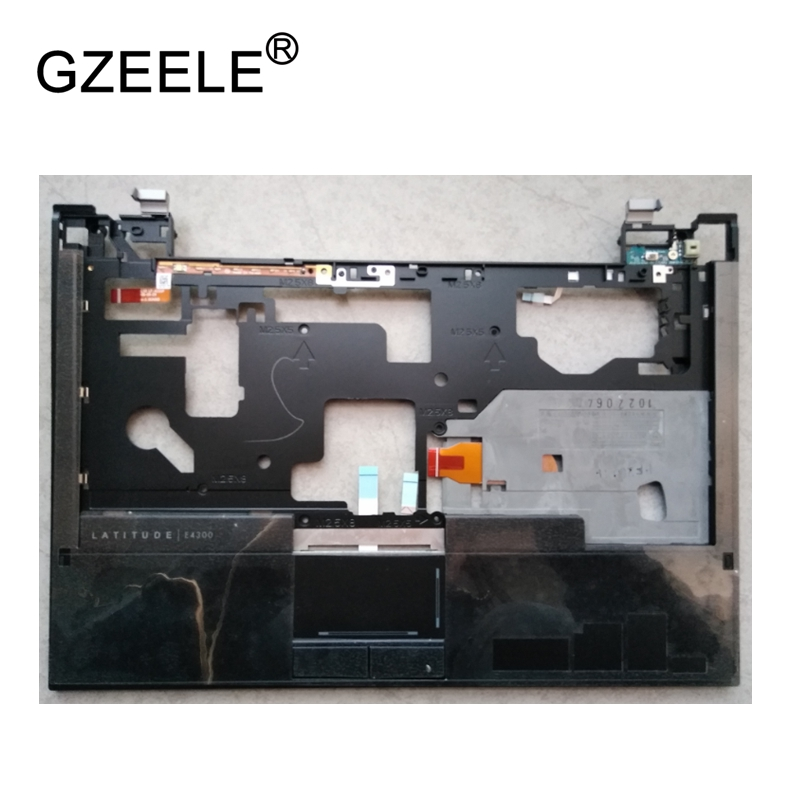 GZEELE New Laptop LCD TOP CASE For DELL LATITUDE E4300 Palmrest Keyboard Bezel Cover Upper Case Assembly black with Touchpad gzeele new for lenovo thinkpad s1 yoga keyboard bezel palmrest cover with touchpad and connecting cable 00hm067 00hm068 black c