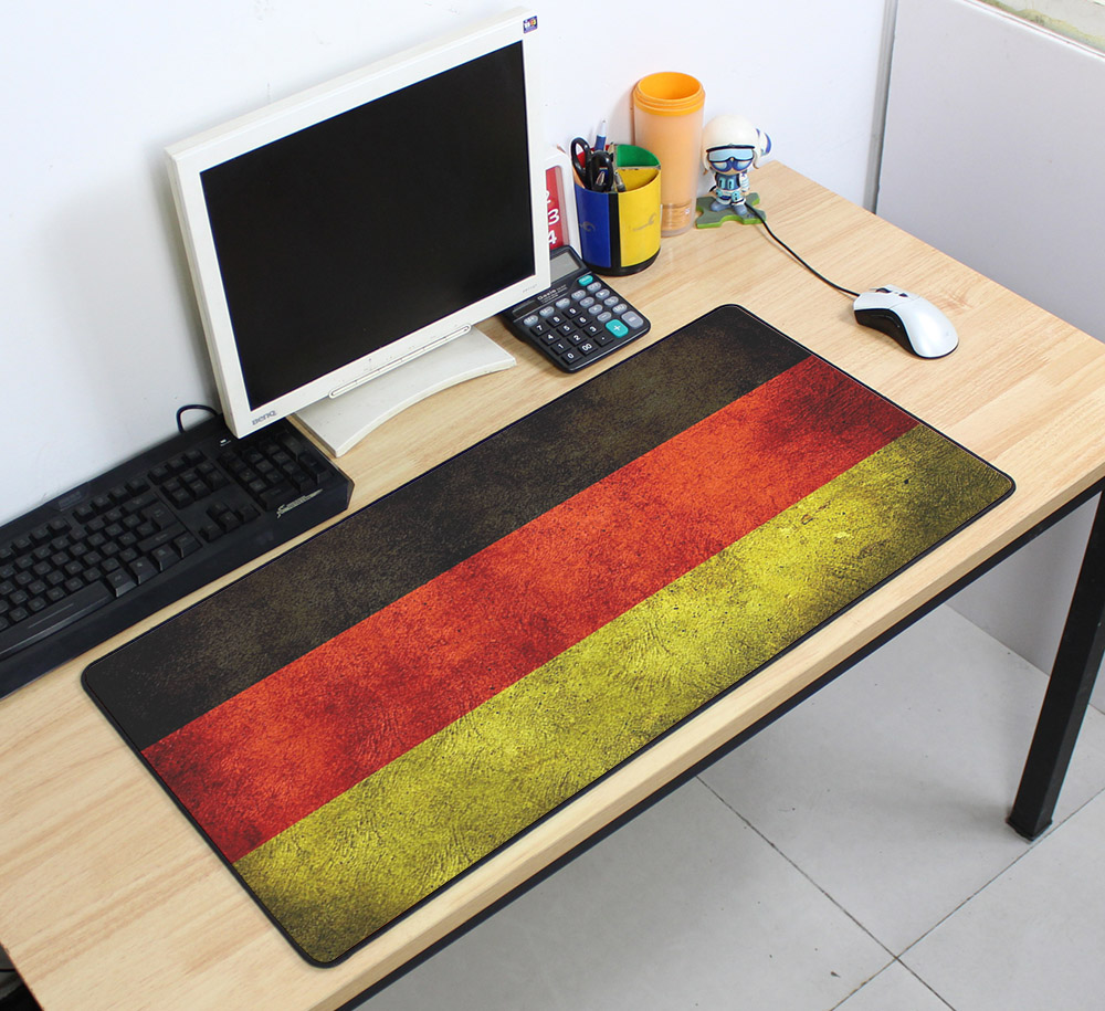 locked edge Vintage Gaming Mouse Pad Plain Extend UKUSKorea Flag thick Desk Keyboard Mouse Mat Mousepad Gamer for 70x40cm Game