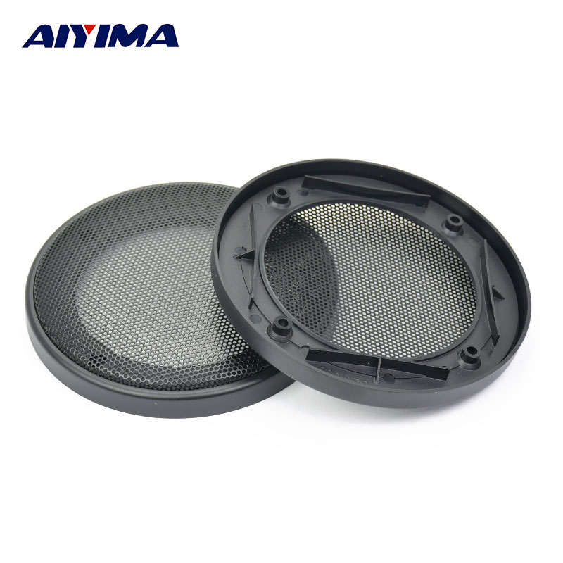 AIYIMA 2Pcs 4Inch Tweeters Car Audio Speaker Cover Speakers Protective Net Grille Waffle Mesk Special Audio Accessories