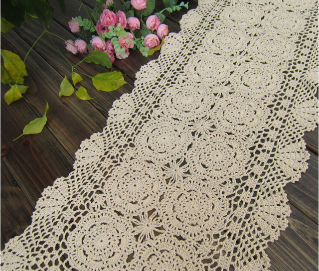 New Handmade Crochet Rectangular Table Runner Hot Rectangle