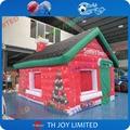5mLx4mWx3. fullprinting 5mH inflable al aire libre casa de santa, navidad inflable santa gruta para venta, inflable santa casa tienda de campaña