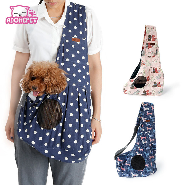 Fashion Small Dog Sling Bag Carrier Durable Canvas Outdoor Dog Delectable Dog Sling Pattern