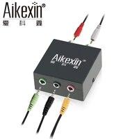 Aikexin 5.1 Estéreo Adaptador de Audio 2 RCA a 3.5mm Convertidor para 5.1 sistemas de altavoces multimedia