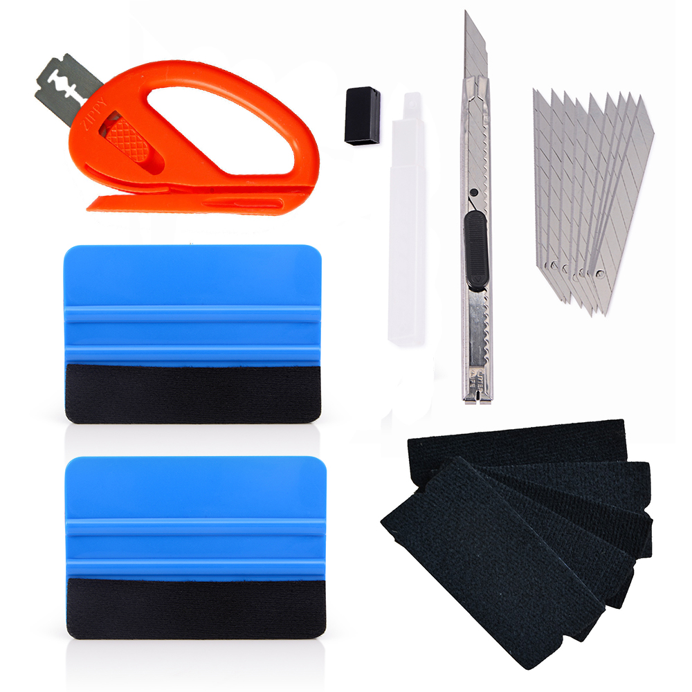 FOSHIO Carbon Fiber Car Wrap Tools Vinyl Wrapping Squeegee Scraper Foil Film Sticker Cutter Auto Window Tint Car Cleaning Tool-in Scraper from Automobiles & Motorcycles