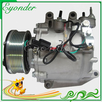 Sanden TRSE07 A/C AC Air Conditioning Compressor Cooling Pulley PV7 for Honda EDIX BE 1.8 R18A1 2004 on 38810RNA004 TSP0155859