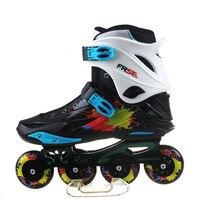 Audult Professionele Slalom Inline Skates Schoenen Rolschaatsen Schoen Sliding Gratis Schaatsen Patines Adulto Gratis Schip Stijl M1 IA30