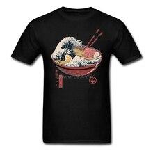 Great Ramen Wave Japan Vintage T Shirt Short Sleeve Custom Men's T-shirt Hip Hop Casual O-neck Cotton XXXL Mens T Shirts